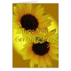 Sunflower Card Yellow Flower Greeting Card Custom