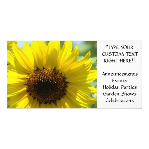 SUNFLOWER CARDS Announcements Events Parties Custom Photo Card