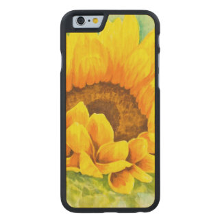 Sunflower Carved Maple iPhone 6 Case