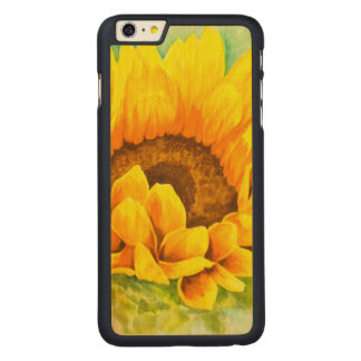 Sunflower Carved Maple iPhone 6 Plus Case
