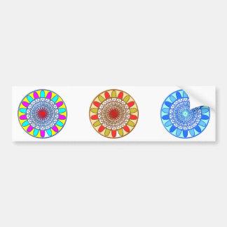 SUNFLOWER Chakra Mandala Car Bumper Sticker