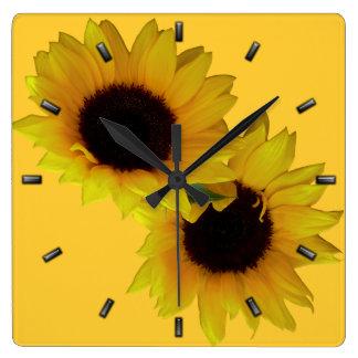 Sunflower Clock Yellow Sunflower Wall Clocks
