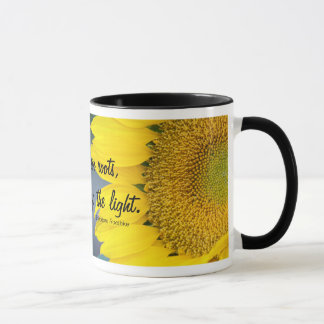 Sunflower Close Up Photograph Mug