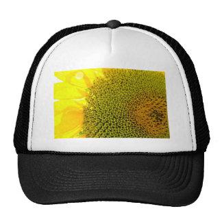 Sunflower Closeup Photography bright yellow digita Mesh Hat