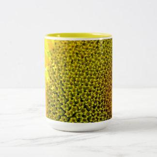 Sunflower Closeup Photography bright yellow digita Coffee Mugs