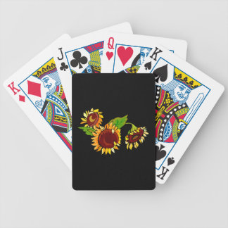 Sunflower Cluster Bicycle Playing Cards