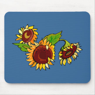 Sunflower Cluster Mouse Pad