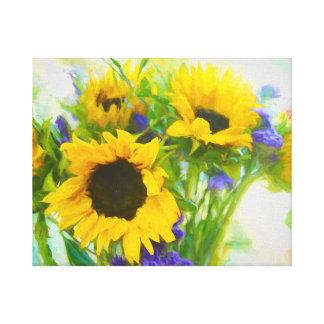 Sunflower Color Canvas Print