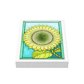 Sunflower Color Design Canvas Print
