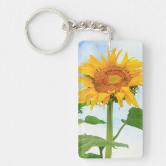 Sunflower, community garden, Moses Lake, WA, USA Key Ring