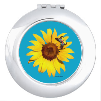 """Sunflower"" Compact Mirror"