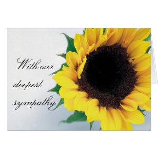 Sunflower Condolence Card