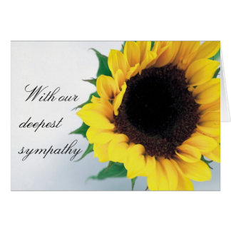 Sunflower Condolence Card Greeting Card