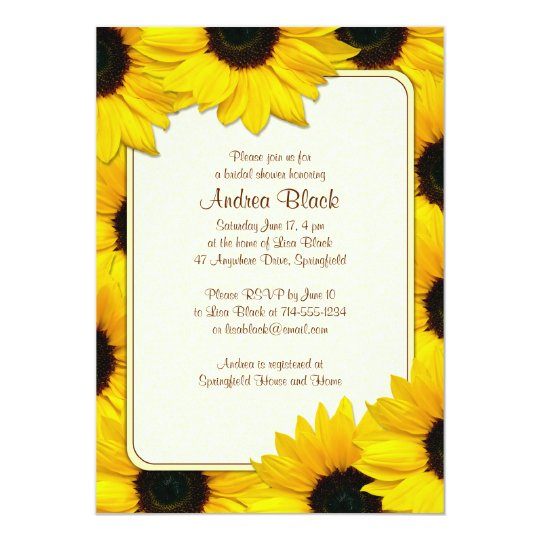 Sunflower Country Bridal Shower Invitation