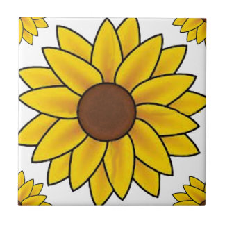 Sunflower Country Small Square Tile