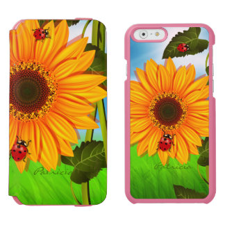 Sunflower Couple Lady Bugs Incipio Watson™ iPhone 6 Wallet Case