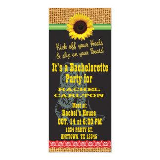 Sunflower Cowgirl Bachelorette Party Invitation