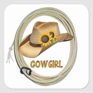 Sunflower Cowgirl Stickers
