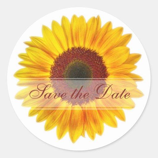 Sunflower Custom Floral Sticker