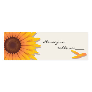 Sunflower Custom Table Place Card Pack Of Skinny Business Cards