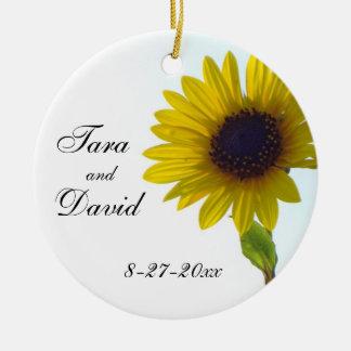 Sunflower Customizable Wedding Ornament