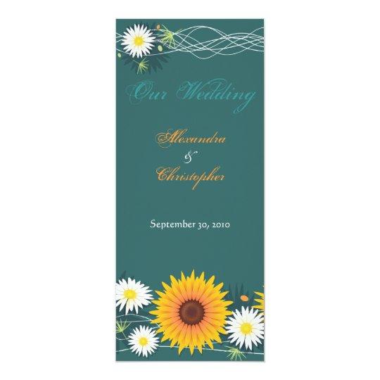 Sunflower & Daisy Wedding Announcement