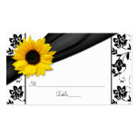 Sunflower Damask Floral Wedding Place Cards Business Cards