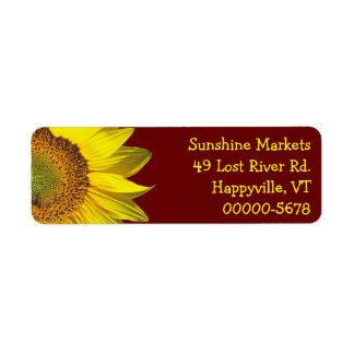 Sunflower Dark Red Skinny Return Address