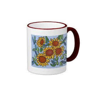 Sunflower Day Ringer Mug
