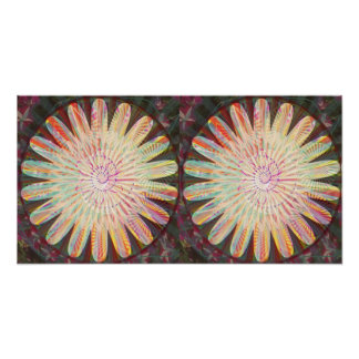 Sunflower Decorations Pattern Poster