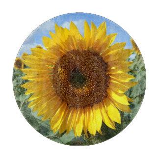 Sunflower Decorative Glass Chopping Board