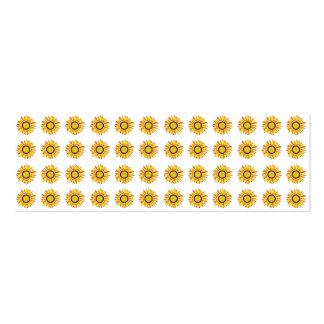 Sunflower Design Artistic Flowers Pattern Business Card Templates