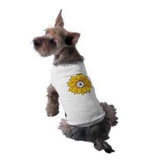 Sunflower Design Pet Tank Tee Sleeveless Dog Shirt