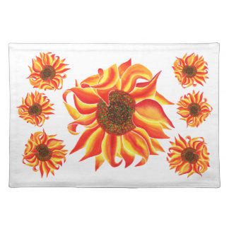 Sunflower design placemat