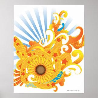 Sunflower Design Poster