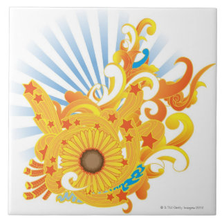 Sunflower Design Tile