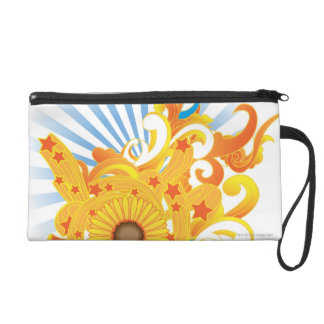 Sunflower Design Wristlet