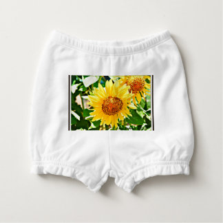 Sunflower Diaper Pants Nappy Cover