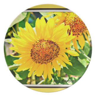 Sunflower Dinner Plate