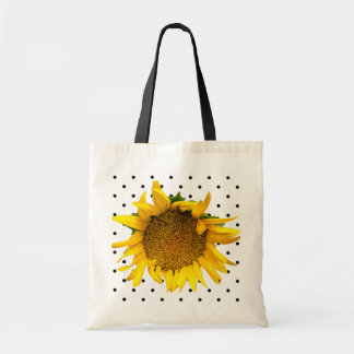 Sunflower Dotted Bag with black