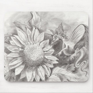 Sunflower Dragon Mouse Pad