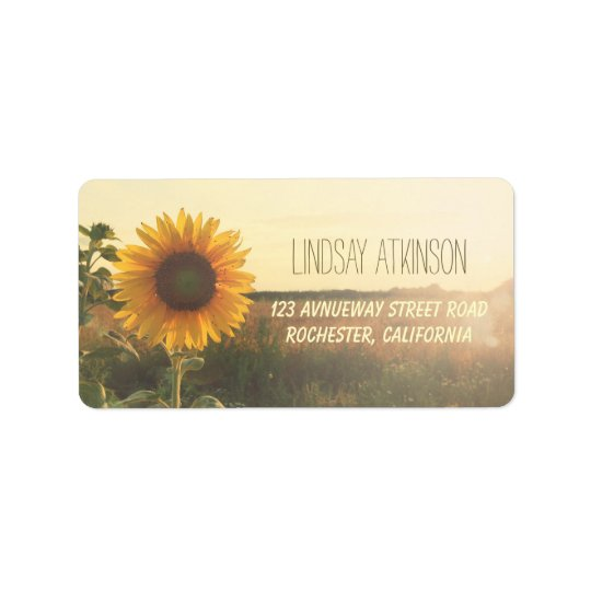 Sunflower Dreamy Nature Wedding Address Labels