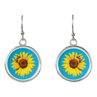 """Sunflower"" Drop Earrings"