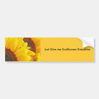 Sunflower Duet Car Bumper Sticker