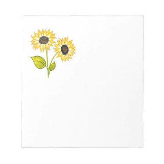'Sunflower Duet' Notepad