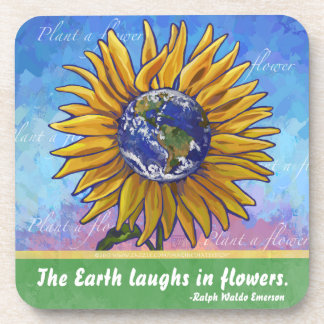 Sunflower Earth Art Coaster