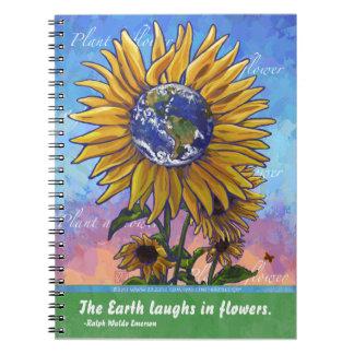 Sunflower Earth Art Notebook