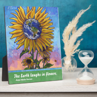 Sunflower Earth Art Photo Plaques