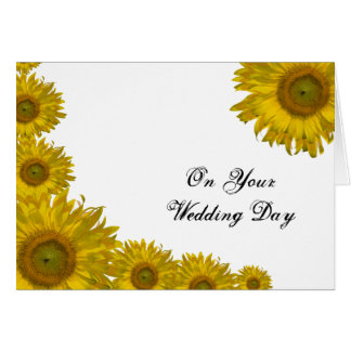Sunflower Edge Blended Family Wedding Card