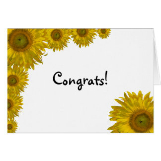 Sunflower Edge Congratulations Greeting Card